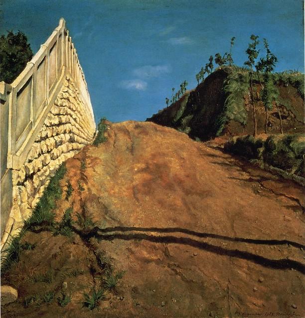 岸田劉生「道路と土手と塀(切通之写生)」(1915/11/05)
