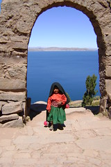Little girl at Taquile - Lake Titicaca