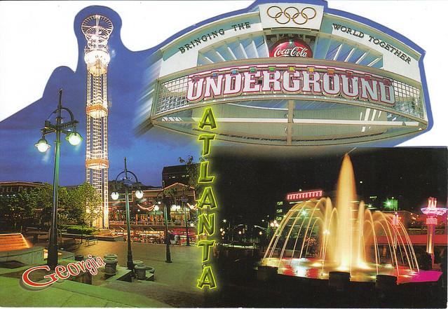 Atlanta, Georgia Shaped Collage Postcard