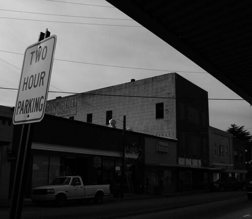 street white black sign ga dark georgia photography mark decay parking depression despair lonely winder economic wetslug hewatt recssion