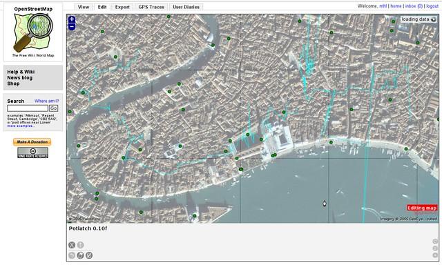 Hopeless GPS Trace in Venice