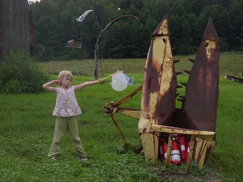 Elizabeth at the art farm   by Kathryn Cramer