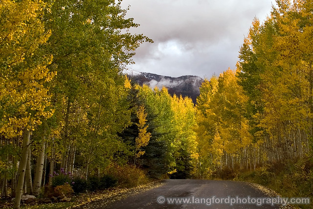 Vail Road with Aspen