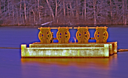 water night photo industrial rhodeisland resevoir weir