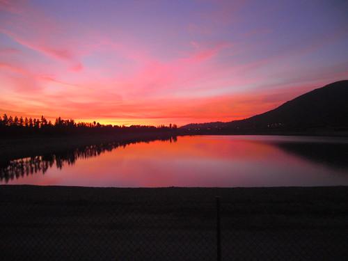 sunset home backyard reservoir fierysunset