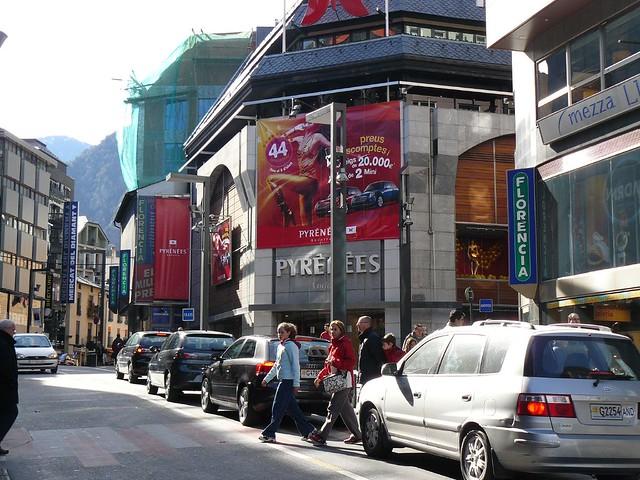 Calle comercial en Andorra la Vella