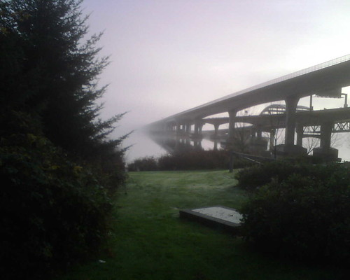 Foggy conditions at the Seattle Marathon | by daemonv