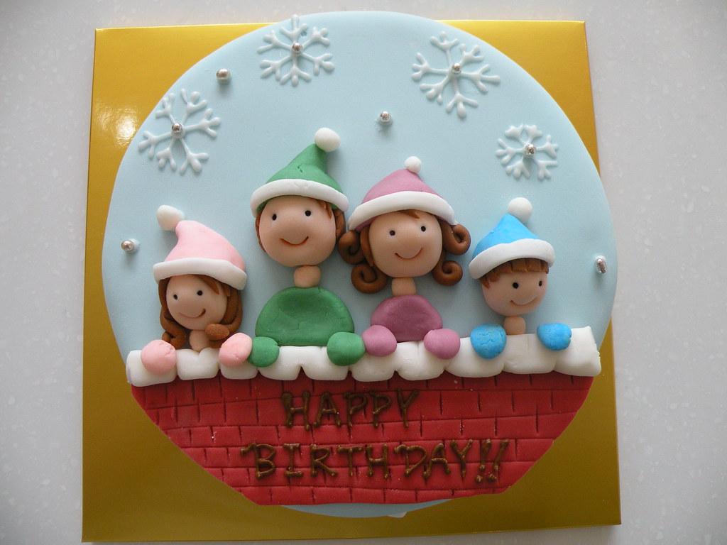 Wondrous Birthday Cake Winter Themed Kim Hyeyoung Flickr Funny Birthday Cards Online Elaedamsfinfo