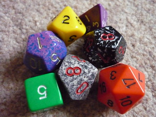 Dungeons & Dragons dice 2 | by lydia_shiningbrightly