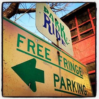FREE FRINGE PARKING.