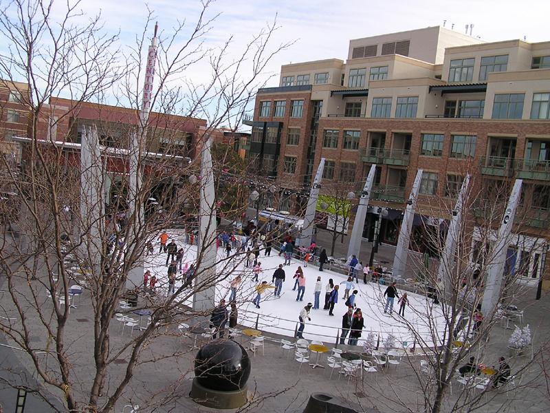 Ice rink at Belmar- Lakewood Colorado