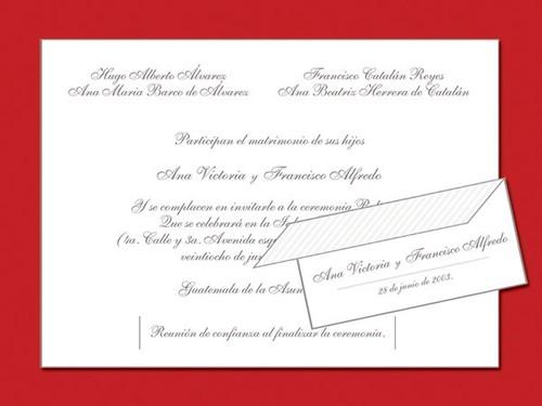Diseño De Tarjetas De Invitación Para Boda