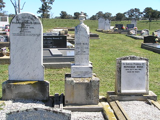 Bush Headstones at Greendale Cemetery, NSW