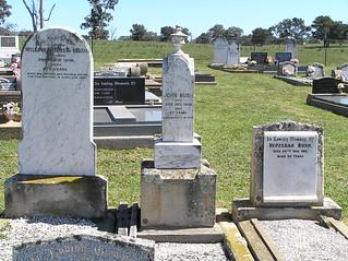 Bush Headstones at Greendale Cemetery, NSW