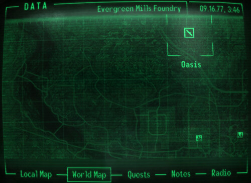 Fallout 3 - Unexplored Map | This corner of the map remained… | Flickr