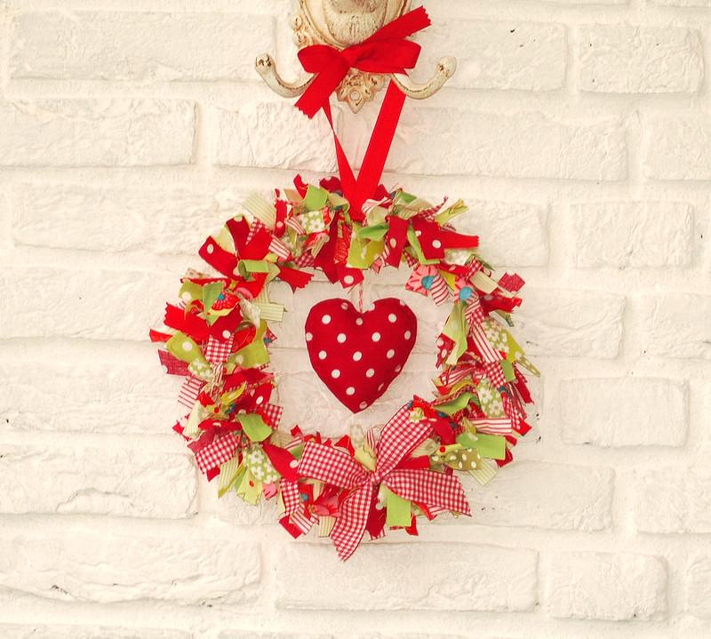 Festive Fabric Wreath