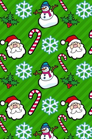 Santa Snowman Candy Cane Wallpaper Camera Phone Upload Flickr