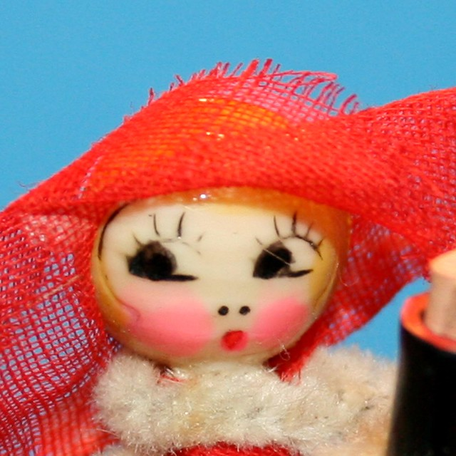 Close up of Chenille Bead Doll