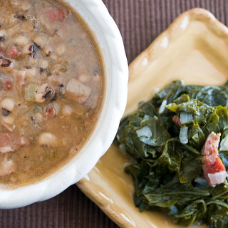 black-eyed peas & greens | by AmyRothPhoto