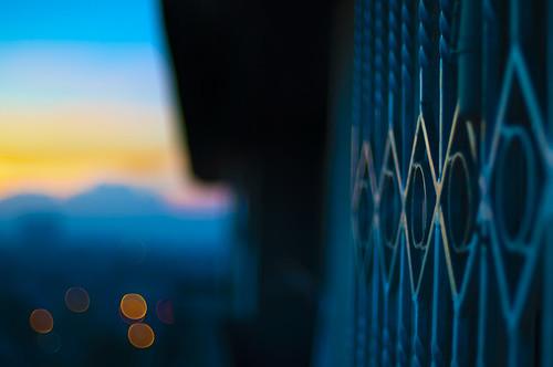 sunrise painting bokeh balcony like depthoffield nikkor50mmf14d windowgrills project365 nikond90 outsidemyplace philippinesunrise michaeljosh thedawnofanewmorning mountainslooks