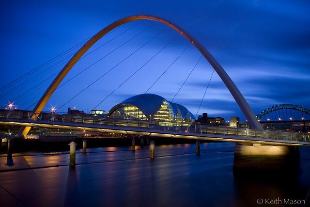 Millennium Bridge and Sage at Night