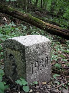 1930 German-Swiss Border Stone