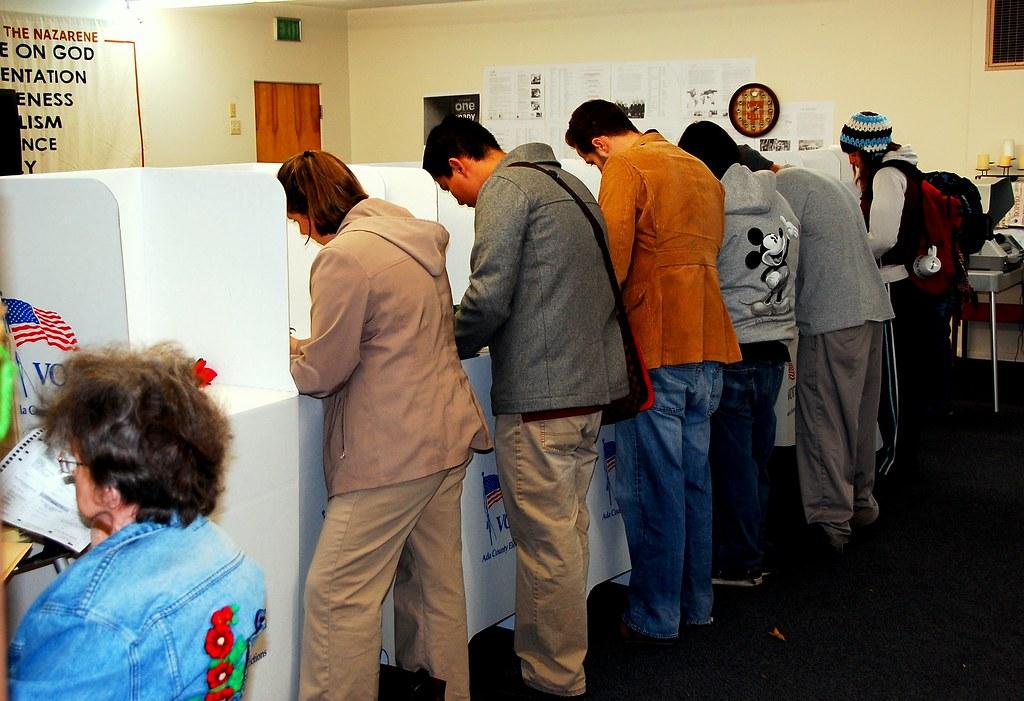 Precinct 86 voting booths