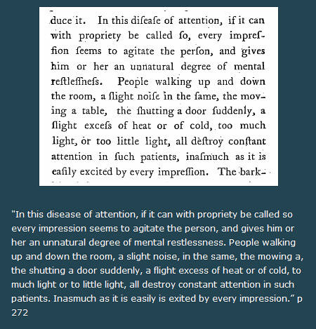 in this disease of attention - The History of ADHD 1798 Alexander Crichton