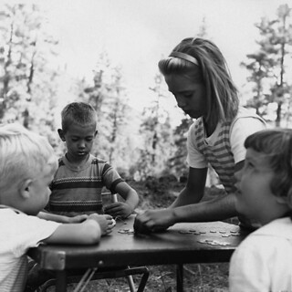 Kids Camping at Hat Creek, 1964