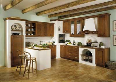 Cucina con forno ad angolo incassato nella muratura   Flickr