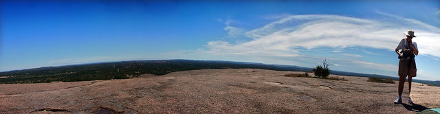 Not a Very Good Panorama, Chris, Enchanted Rock State Natural Area, Gillespie and Llano Co, TX