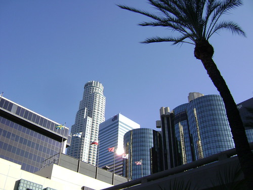 Los Angeles Skyline from below | by RodneyRamsey