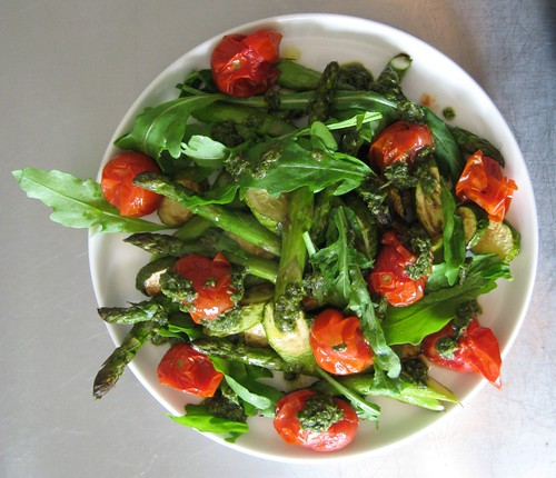 Asparagus, courgette, tomato and rocket salad | by Simon Aughton