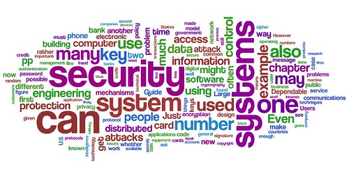 Information Security wordle: Ross Anderson's Security Engineering | by purpleslog