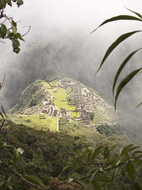Mi señor...mire...una ciudad inca!