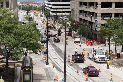 KC Streetcar Construction - 10th and Main | by Glithander