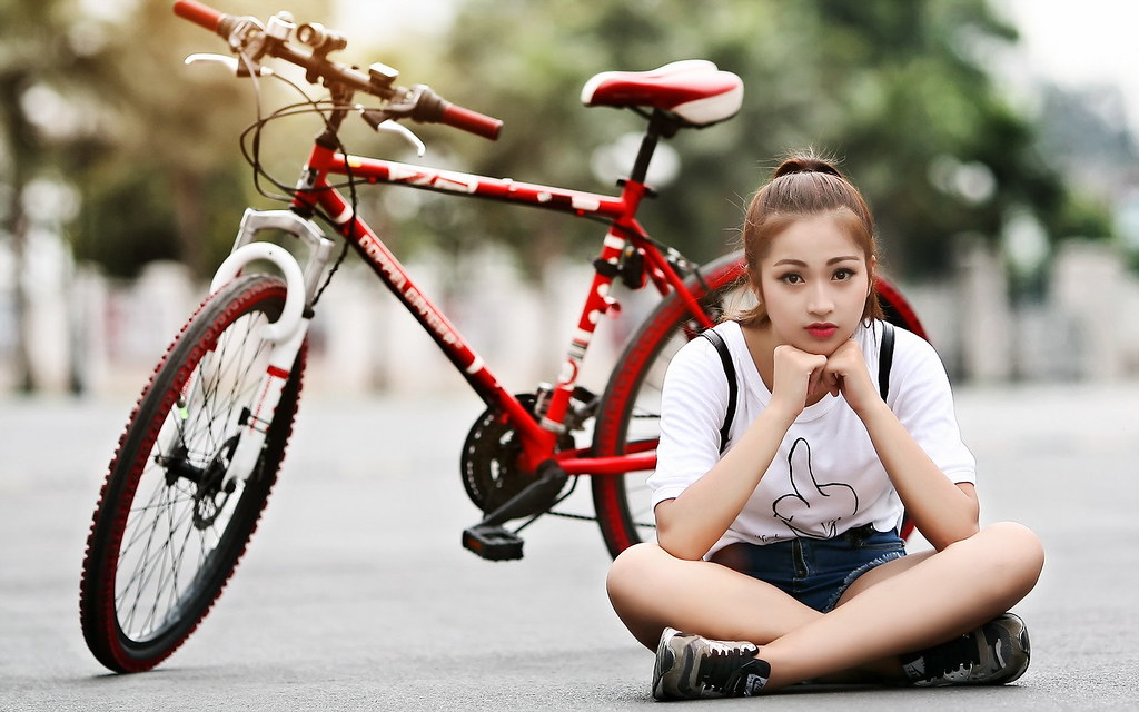 Lovely Girl With Cycle Hd Wallpaper Free Download Lovely G Flickr