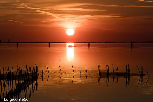 tramonto a Malamocco