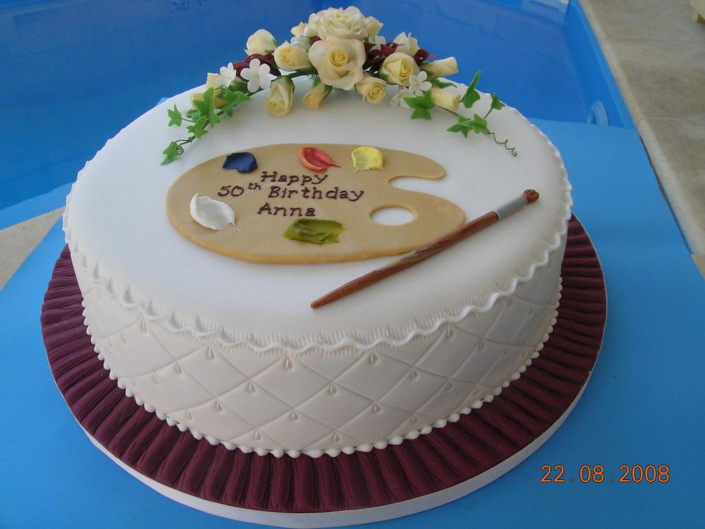Stupendous Artists Birthday Cake Made Explore 24 Aug 08 364 Flickr Funny Birthday Cards Online Hetedamsfinfo