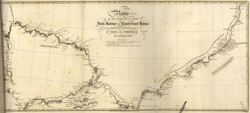 route of the expedition from york factory to cumberland ho