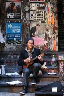 Busker in DeGraves Street, Melbourne | by Joe Lewit
