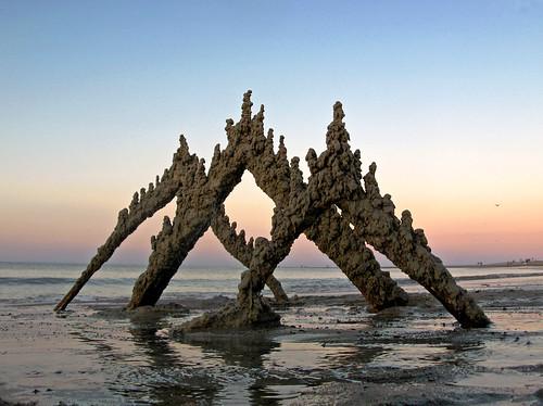 sunset sculpture castle beach sand massachusetts drip sandcastle sandsculpture ipswich cranebeach cranesbeach bostonist dripcastle universalhub dripsculpture