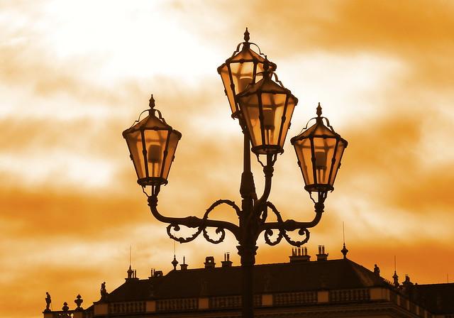 Lamps at Schonbrunn