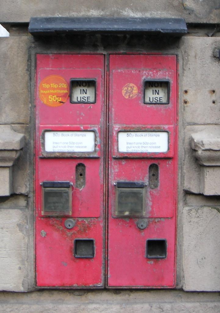 Old Postage Stamp Dispenser Machines Wem These Postage