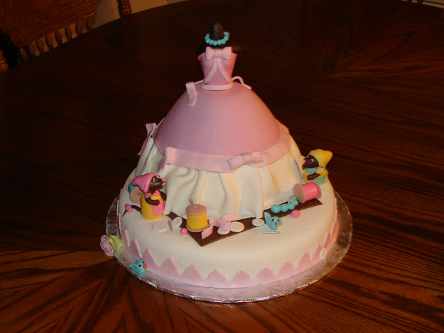 Cinderella and Mice Birthday Cake