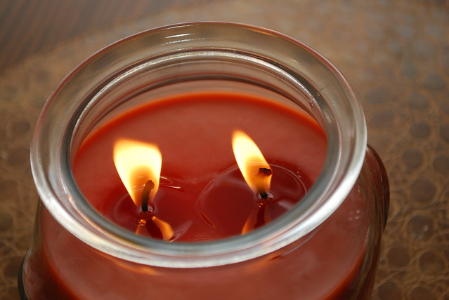 Double Wick Pumpkin Jar Candle