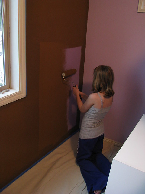 Daughters New Painted Wall