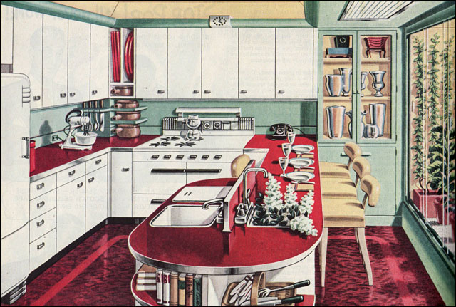1946 American Gas Assn Garden Kitchen This Ad For Natura Flickr