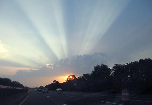sunset sky cloud sun clouds rays sunrays crepuscularrays crespuscular img6190r