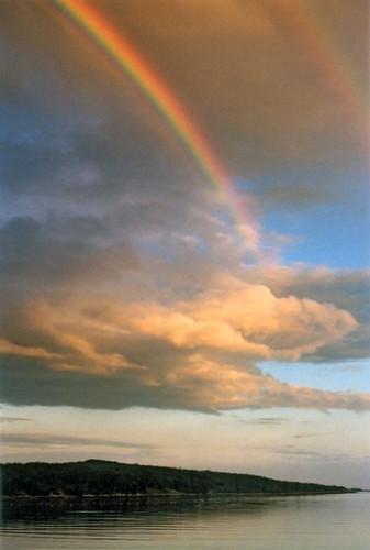 ocean sunset island bay rainbow pigeon hill maine